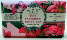 Lucy Bs Apothecary Pink Frangipani Water Lily Soap