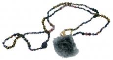 Halskette Pompon